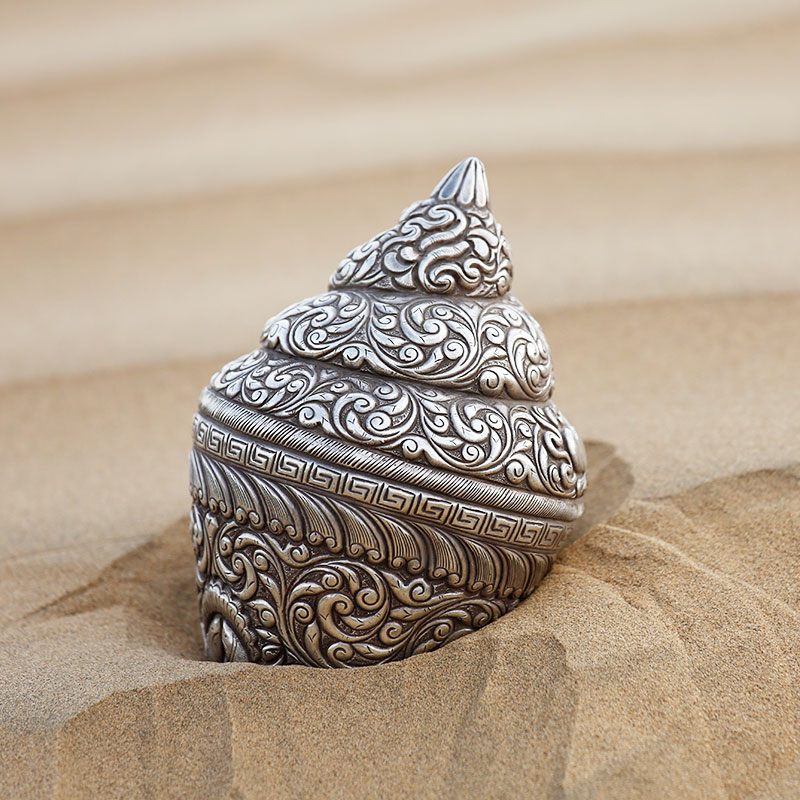 Silver Shell: This amazing silver shell is sure to elevate the charisma of your abode with its glossy  nature and sparkling facade. Get this enthralling offering byDurga Silver Works to awestruck its  onlookers.